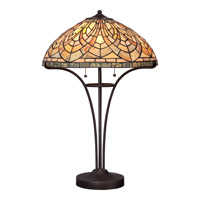 Quoizel Marietta 2 Light Table Lamp in Imperial Bronze TFMT6320IB