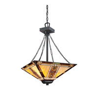 Quoizel Lighting Navajo 3 Light Pendant in Valiant Bronze TFNO2817VA