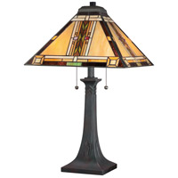 Navajo 25 inch 75 watt Valiant Bronze Table Lamp Portable Light, Naturals