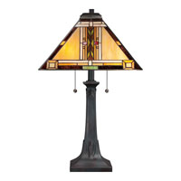 Quoizel TFNO6325VA Navajo 25 inch 75 watt Valiant Bronze Table Lamp Portable Light, Naturals alternative photo thumbnail