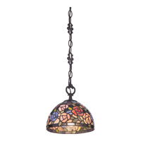 Quoizel Rosa 1 Light Mini Pendant in Imperial Bronze TFRA1508IB