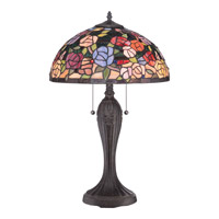 Quoizel Rosa 2 Light Table Lamp in Imperial Bronze TFRA6325IB
