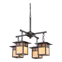 Quoizel Samara 4 Light Dinette Chandelier in Vintage Bronze TFSM5004VB