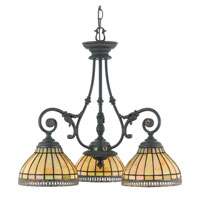 Quoizel Lighting Sonnet 3 Light Chandelier in Dynasty TFSO5103DN