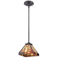 Stephen 1 Light 8 inch Vintage Bronze Mini Pendant Ceiling Light, Naturals