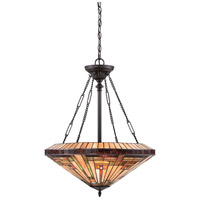 Stephen 4 Light 22 inch Vintage Bronze Pendant Ceiling Light, Naturals