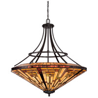 Quoizel TFST2840VB Stephen 8 Light 40 inch Vintage Bronze Foyer Pendant Ceiling Light, Naturals