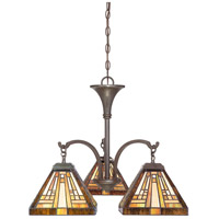Stephen 3 Light 24 inch Vintage Bronze Dinette Chandelier Ceiling Light, Naturals