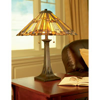 Quoizel Lighting Inglenook 2 Light Table Lamp in Valiant Bronze TFT16191A1VA alternative photo thumbnail