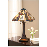 Quoizel Lighting Inglenook 2 Light Table Lamp in Valiant Bronze TFT16191A1VA