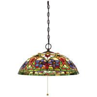 Quoizel TFVT1820VB Violets 3 Light 20 inch Vintage Bronze Pendant Ceiling Light, Naturals