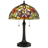 Quoizel TFVT6323VB Violets 24 inch 75 watt Vintage Bronze Table Lamp Portable Light Naturals