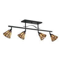 Victory 4 Light 120V Valiant Bronze Track Light Ceiling Light in A19 Medium Base
