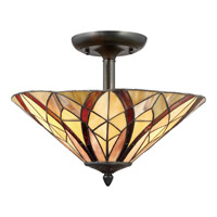 Quoizel Victory 2 Light Semi-Flush Mount in Valiant Bronze TFVY1716VA