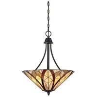 Victory 3 Light 19 inch Valiant Bronze Pendant Ceiling Light in A19 Medium Base, Naturals