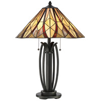 Victory 26 inch Valiant Bronze Table Lamp Portable Light, Naturals