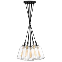 Quoizel TGN2607EK Teagan 7 Light 21 inch Earth Black Pendant Ceiling Light