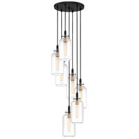 Quoizel TGN2707EK Teagan 7 Light 17 inch Earth Black Pendant Ceiling Light