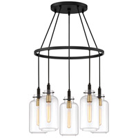 Quoizel TGN5005EK Teagan 5 Light 24 inch Earth Black Chandelier Ceiling Light