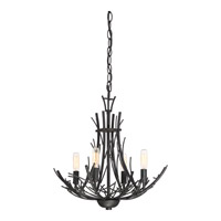 Quoizel THL1718MK Thornhill 4 Light 18 inch Marcado Black Convertible Chandelier Ceiling Light in B10 Candelabra Base