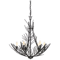 Quoizel THL5006MK Thornhill 6 Light 26 inch Marcado Black Chandelier Ceiling Light in B10 Candelabra Base