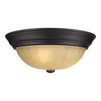 Quoizel Tradewinds 3 Light Flush Mount in Espresso TL184EP