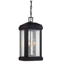 Quoizel Trumbull 3 Light Outdoor Hanging in Mystic Black TML1908K