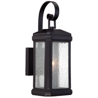 Trumbull 1 Light 15 inch Mystic Black Outdoor Wall