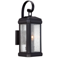 Trumbull 2 Light 19 inch Mystic Black Outdoor Wall