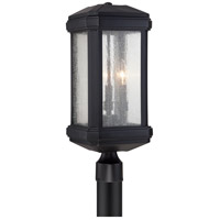 Quoizel Trumbull 3 Light Outdoor Post Mount in Mystic Black TML9008K