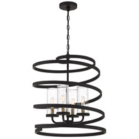 Quoizel TMT5204WT Tumult 4 Light 17 inch Western Bronze Foyer Chandelier Ceiling Light