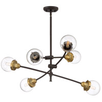 Quoizel TNC5006WT Trance 6 Light 34 inch Western Bronze Chandelier Ceiling Light