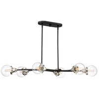Trance 6 Light 42 inch Earth Black Island Chandelier Ceiling Light