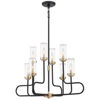 Quoizel TNR5008EK Tenor 8 Light 28 inch Earth Black Chandelier Ceiling Light
