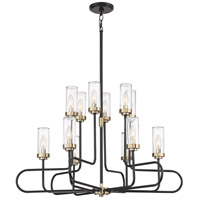 Tenor 12 Light 34 inch Earth Black Chandelier Ceiling Light