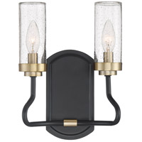 Tenor 2 Light 9 inch Earth Black Wall Sconce Wall Light