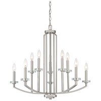 Quoizel TNS5010BN Transit 10 Light 30 inch Brushed Nickel Chandelier Ceiling Light