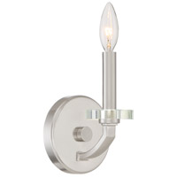 Brushed Nickel Steel Transit Wall Sconces