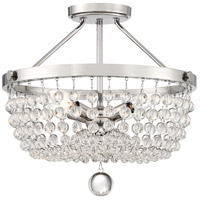 Quoizel TRA1716PK Teresa 4 Light 16 inch Polished Nickel Semi-Flush Mount Ceiling Light