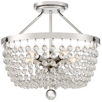 Quoizel TRA1719PK Teresa 5 Light 18 inch Polished Nickel Semi-Flush Mount Ceiling Light