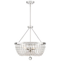 Quoizel TRA2820PK Teresa 5 Light 20 inch Polished Nickel Pendant Ceiling Light