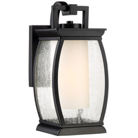 Terrace 1 Light 12 inch Mystic Black Outdoor Wall Lantern