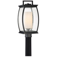 Quoizel TRE9009K Terrace 1 Light 17 inch Mystic Black Outdoor Post Lantern
