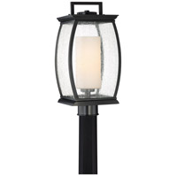 Terrace 1 Light 17 inch Mystic Black Outdoor Post Lantern