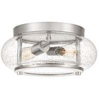 Quoizel TRG1612BN Trilogy 2 Light 12 inch Brushed Nickel Flush Mount Ceiling Light
