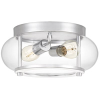 Quoizel TRG1612C Trilogy 2 Light 12 inch Polished Chrome Flush Mount Ceiling Light