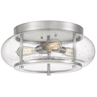 Quoizel TRG1616BN Trilogy 3 Light 16 inch Brushed Nickel Flush Mount Ceiling Light