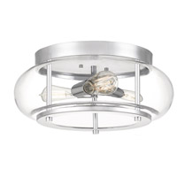 Quoizel TRG1616C Trilogy 3 Light 16 inch Polished Chrome Flush Mount Ceiling Light