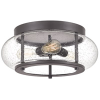 Quoizel TRG1616OZ Trilogy 3 Light 16 inch Old Bronze Flush Mount Ceiling Light