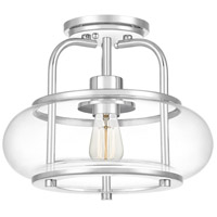 Quoizel TRG1712C Trilogy 1 Light 12 inch Polished Chrome Semi-Flush Mount Ceiling Light